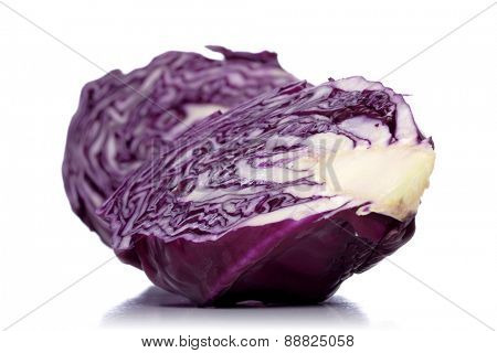 Studio shot of red cabbage