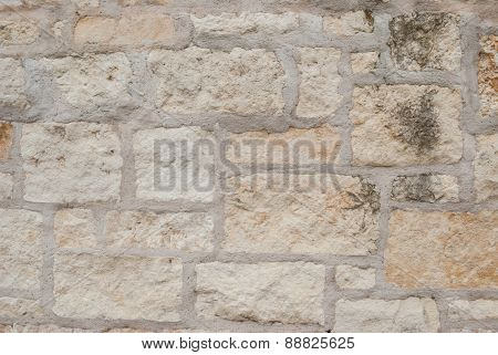 Beige Stone Wall Background