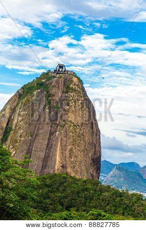 Sugarloaf Mountain in Rio de Janeiro, Brazil.