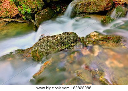 Nice cascade of mountain river