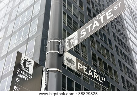 Lower Manhattan Street Signs