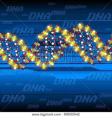 abstract background the color glow dna structure