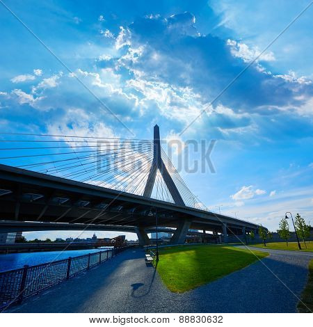 Boston Zakim bridge in Bunker Hill Massachusetts USA