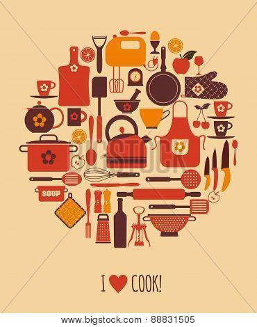 Kitchen love card