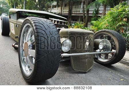 Vintage Cars  At A Car Show On December 16, 2014 In Hua Hin, Tha