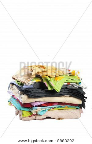 Medium Pile Of Bed-clothes #2 | Isolated