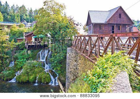 Waterfalls Of Rastoke River Village