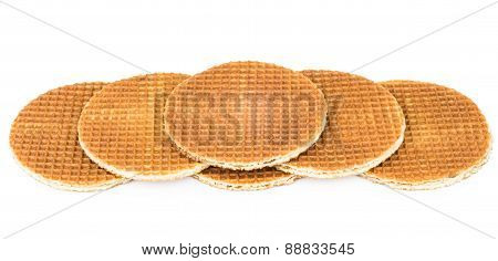 Several Round Waffle Laid Steps
