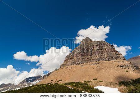 Logan Pass Mountain Landscape In Glacier National Park