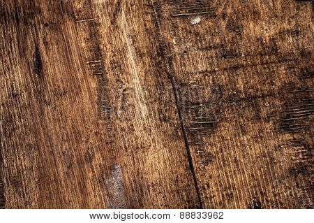 outdated wooden surface