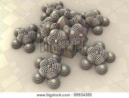 3D Rendered virtual scene fractal