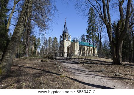 Peter and Paul Church in Pargolovo. St. Petersburg.