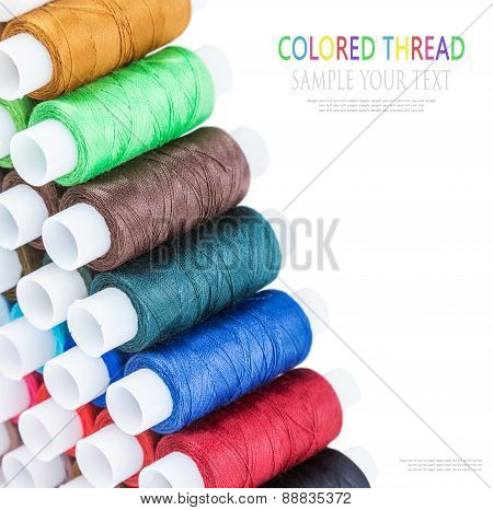Multicolor Sewing Thread Isolated