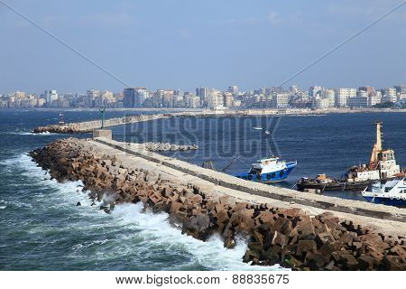 the harbour of Alexandria