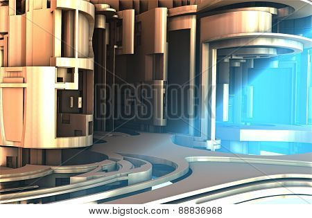 Virtual architecture 3D scene render