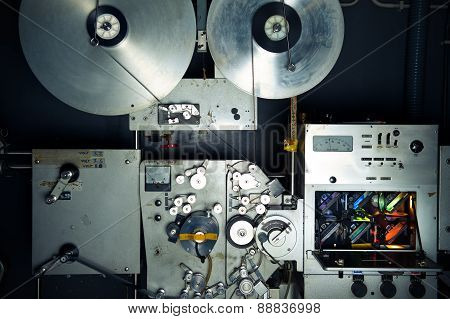 Movie Printer Industrial Machine For 35 Mm Film With Rgb Lamps And Reels