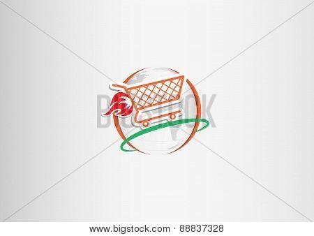 Paper shopping cart fire