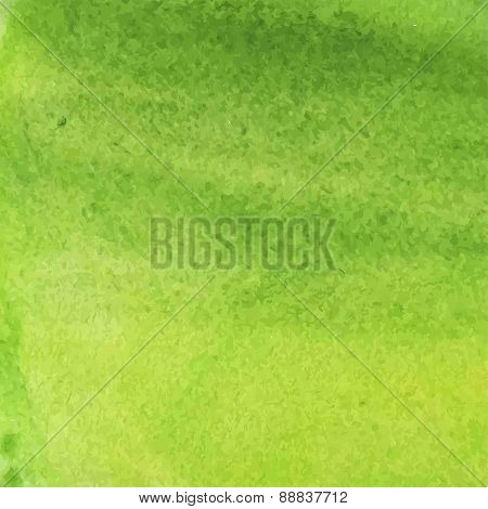 Vector Abstract Grunge Green Watercolor Background
