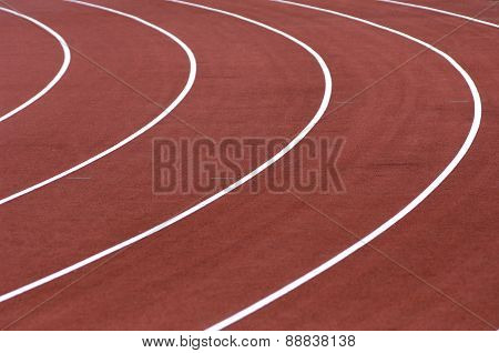 Running Tracks In A Stadium