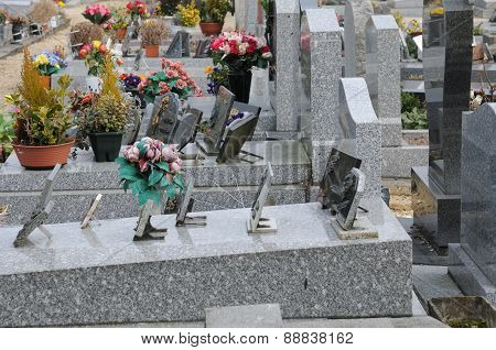 France, The Cemetery Of Triel Sur Seine