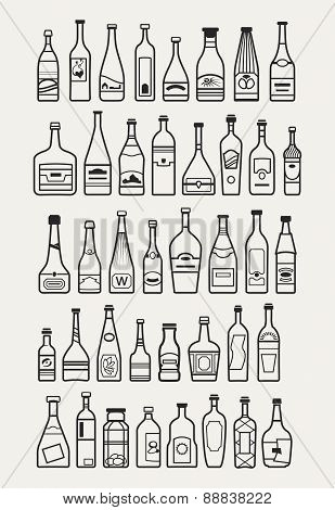 Alcohol, Drinks, Beverage Icons
