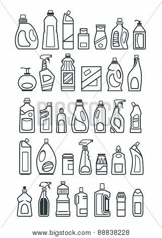 Household Chemicals Icons