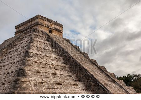 Close Up Chichen Itza, Mayan Pyramid, Yucatan, Mexico