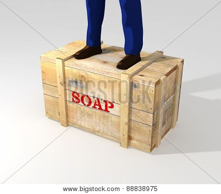 Standing On Soapbox