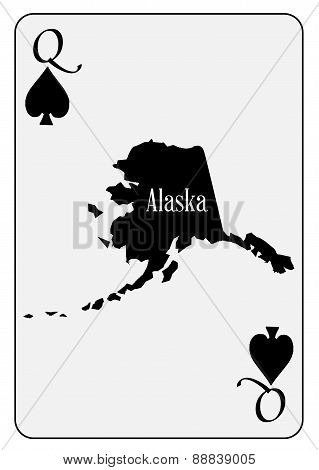 Usa Playing Card Queen Spades