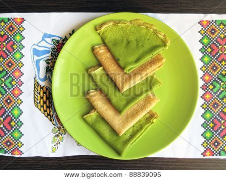 Colored pancakes