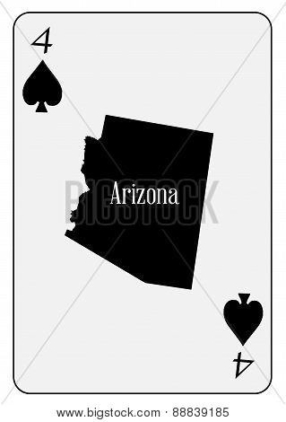 Usa Playing Card 4 Spades