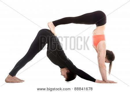 Acroyoga, Downward-facing Dog Yoga Pose