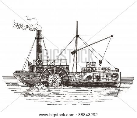 steamer on a white background. sketch