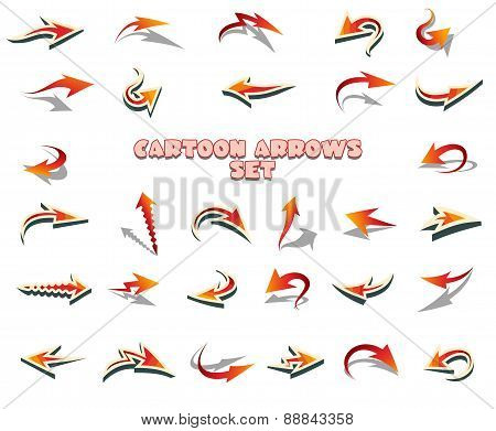 Cartoon Arrows Set