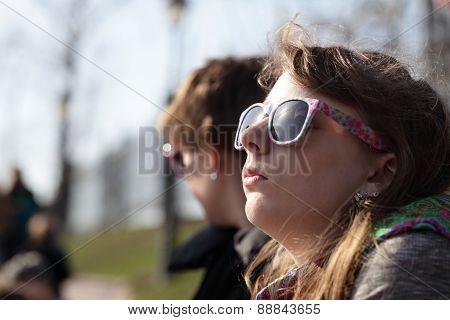 Girl Sunbathes