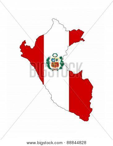 Peru Flag Map