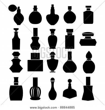Vector Set Of Perfume Bottles - Illustration
