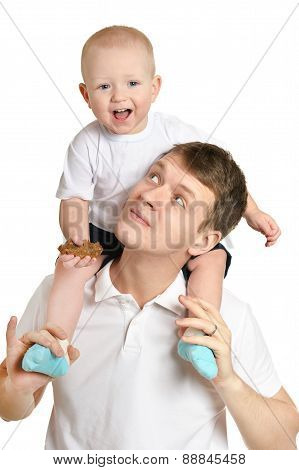 father and a young child