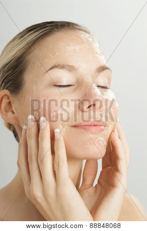 Woman With Gel Mask