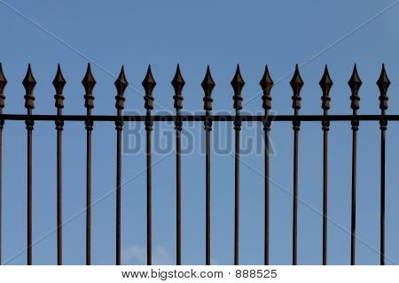 Iron Picket Fence
