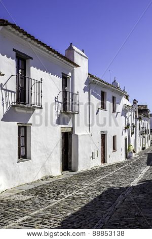 Historic Town Of Monsaraz, On The Right Margin Of The Guadiana River In Alentejo Region
