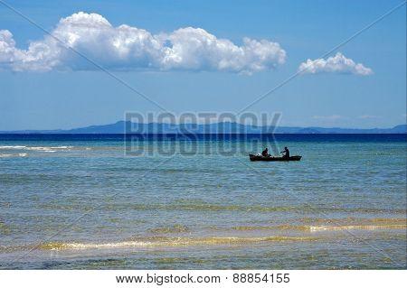 Boat In Blue