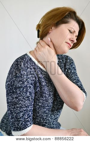Adult Woman With Neck Pain