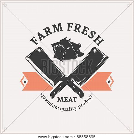 Butchery Logo, Meat Label Template