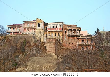 Old Tbilisi. Residential buildings in Avlabar area