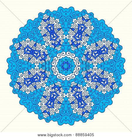 round octagonal ornament