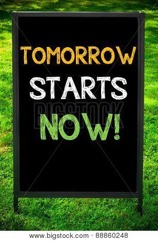 Tomorrow Starts Now!