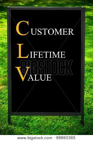 Business Acronym Clv As Customer Lifetime Value