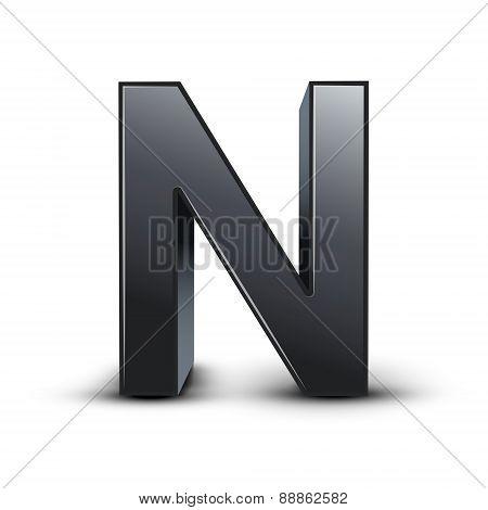 3D Black Letter N