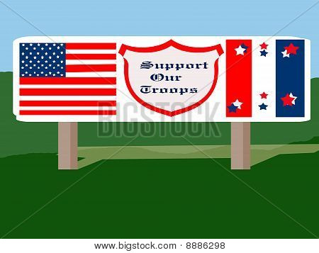 Support Our Troops Billboard
